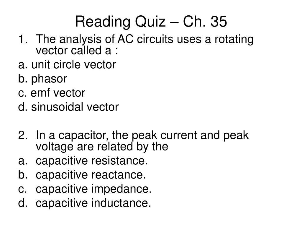 Reading Quiz – Ch. 35