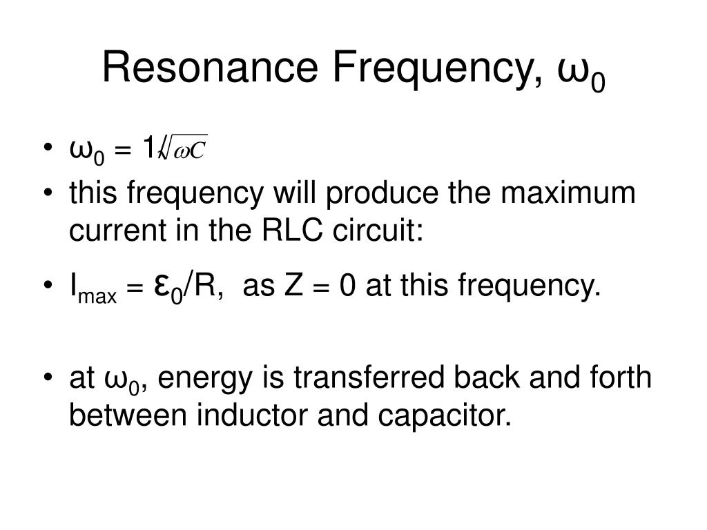 Resonance Frequency,