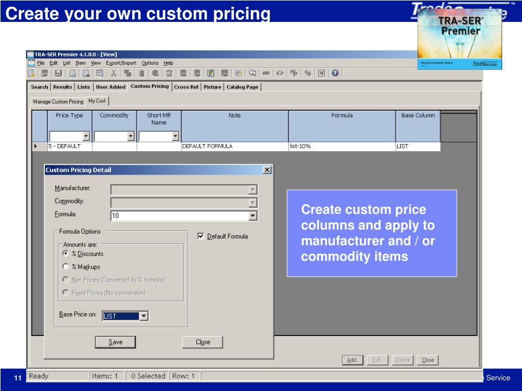 Create your own custom pricing