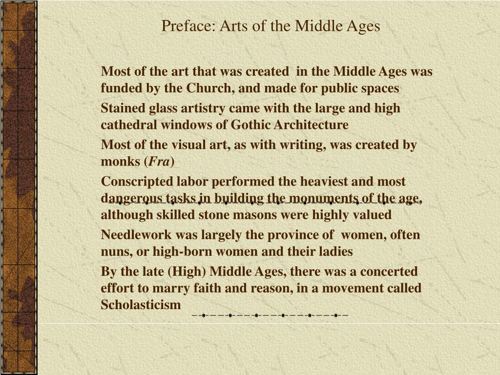Preface: Arts of the Middle Ages