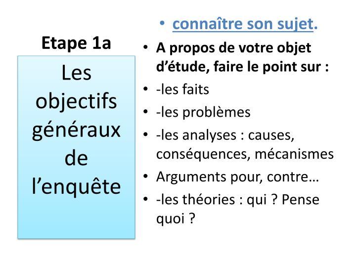 Etape 1a
