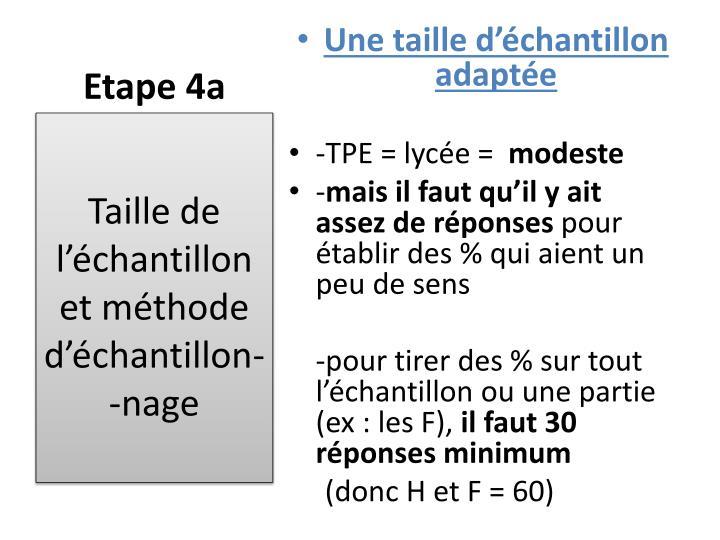 Etape 4a