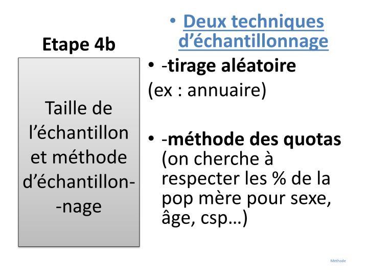 Etape 4b