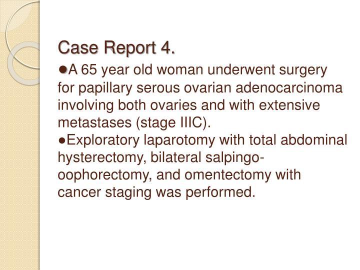 Case Report 4.