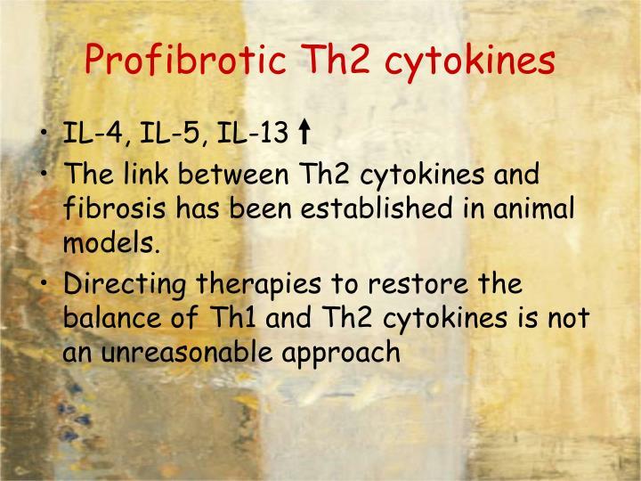 Profibrotic Th2 cytokines
