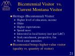 bicentennial visitor vs current montana visitor