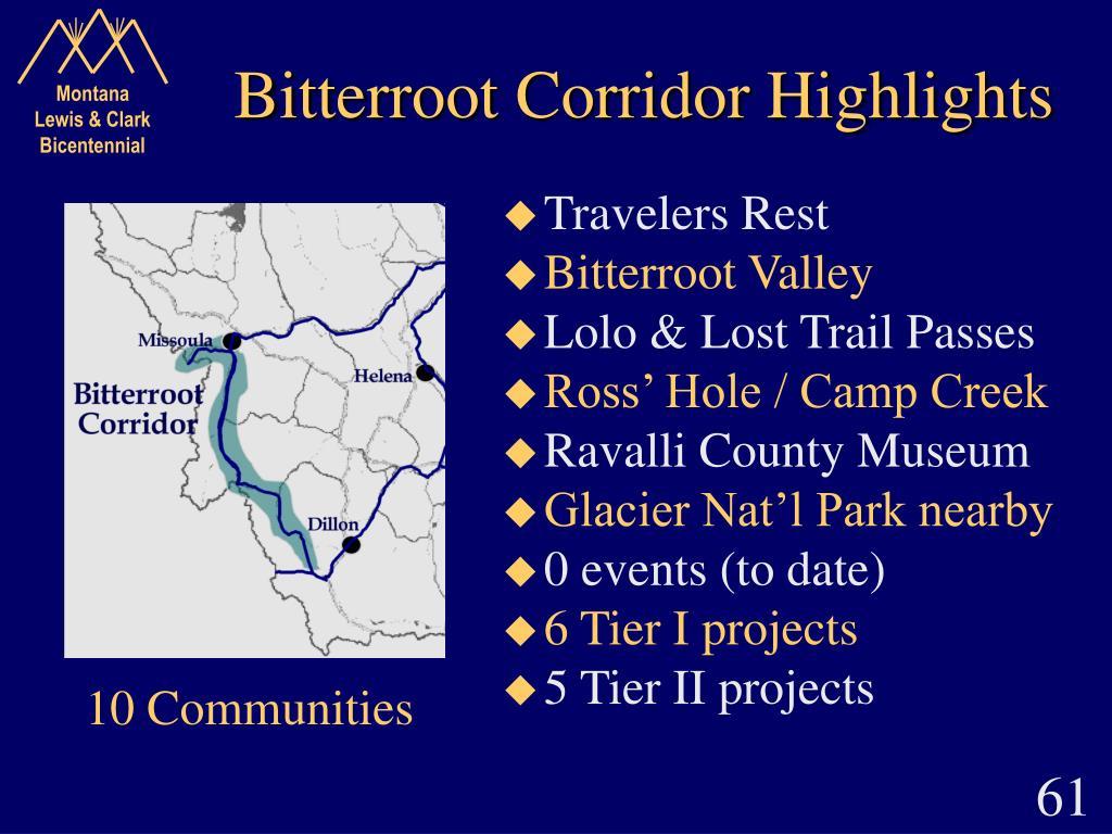 Bitterroot Corridor Highlights
