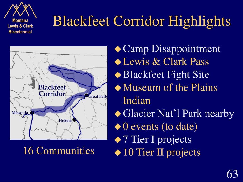Blackfeet Corridor Highlights