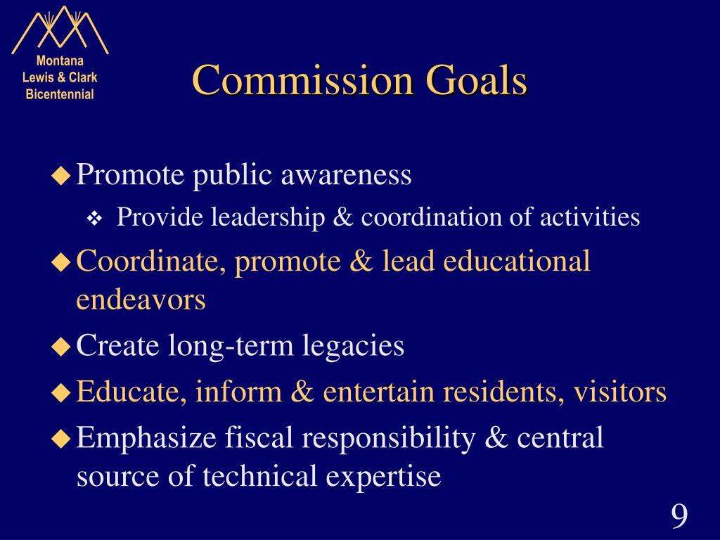Commission Goals