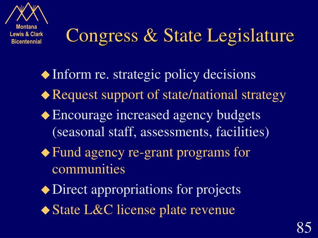 Congress & State Legislature