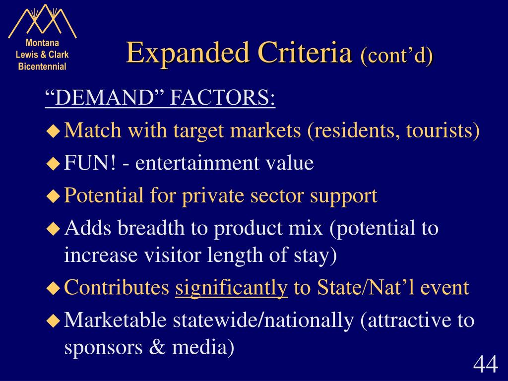 Expanded Criteria
