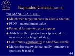expanded criteria cont d