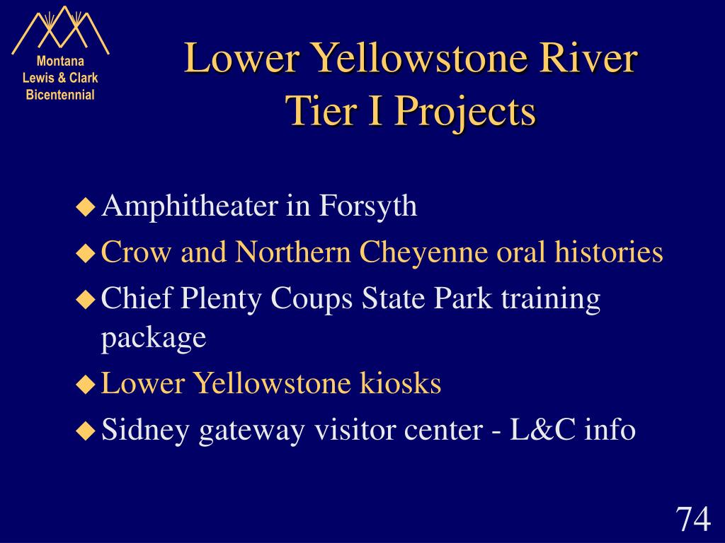 Lower Yellowstone River Tier I Projects