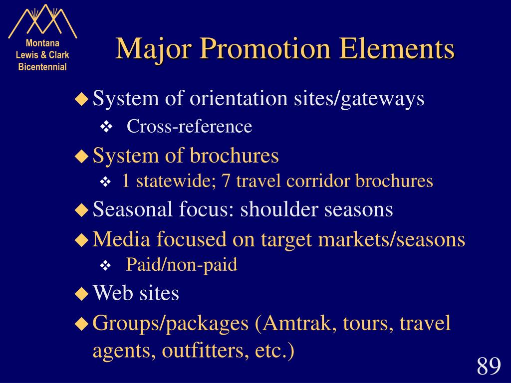 Major Promotion Elements