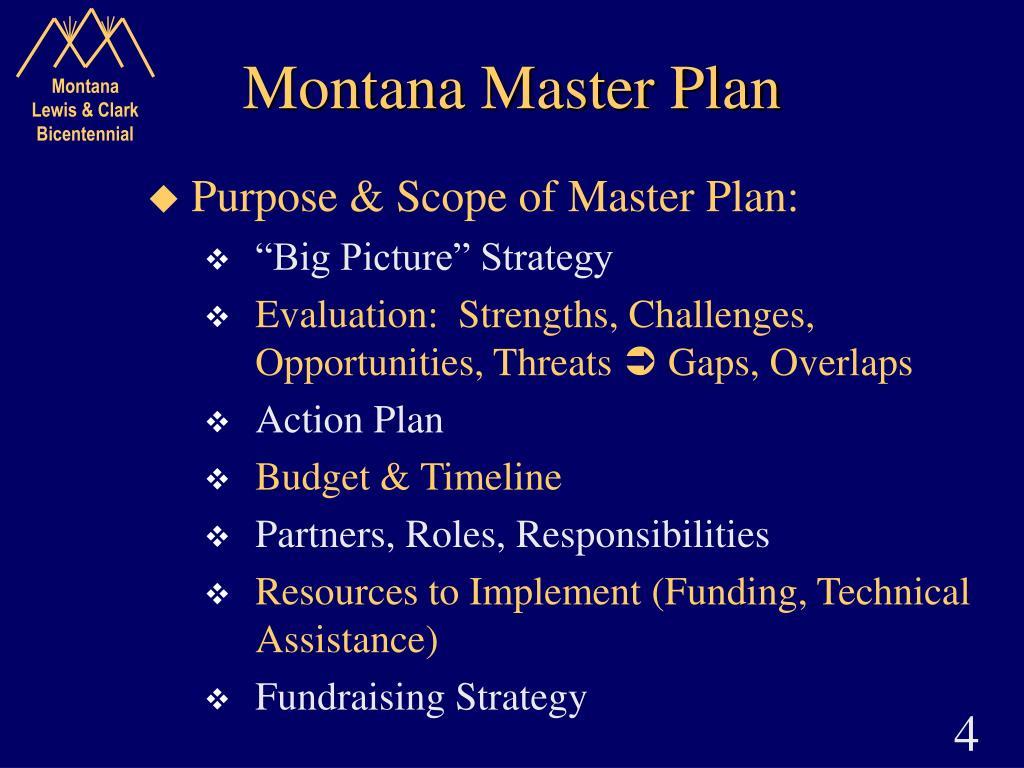 Montana Master Plan