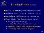 planning process cont d