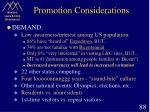 promotion considerations88