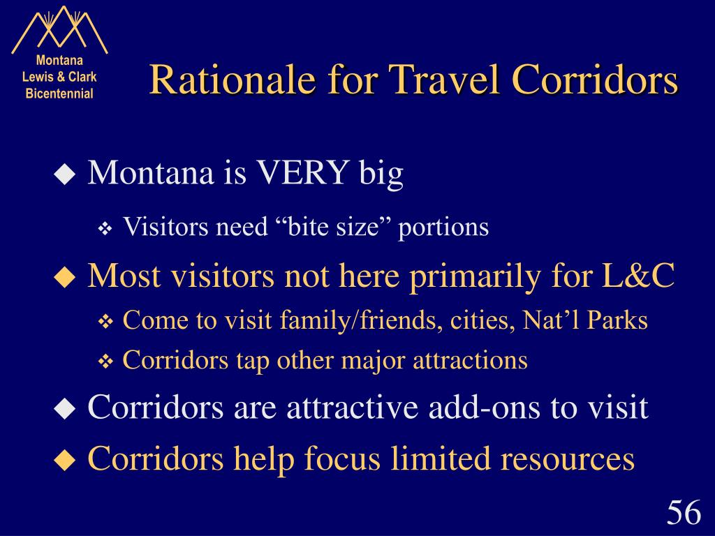 Rationale for Travel Corridors