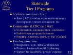 statewide tier i programs