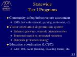statewide tier i programs53