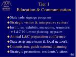 tier 1 education communication