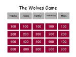 the wolves game