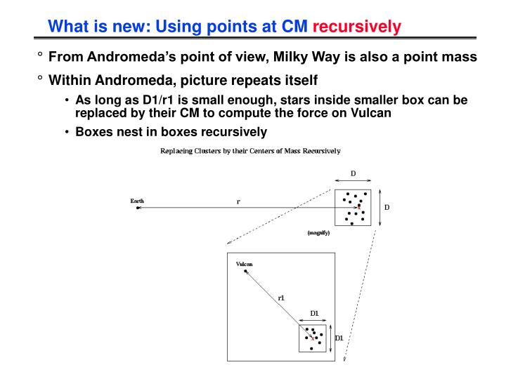 What is new: Using points at CM