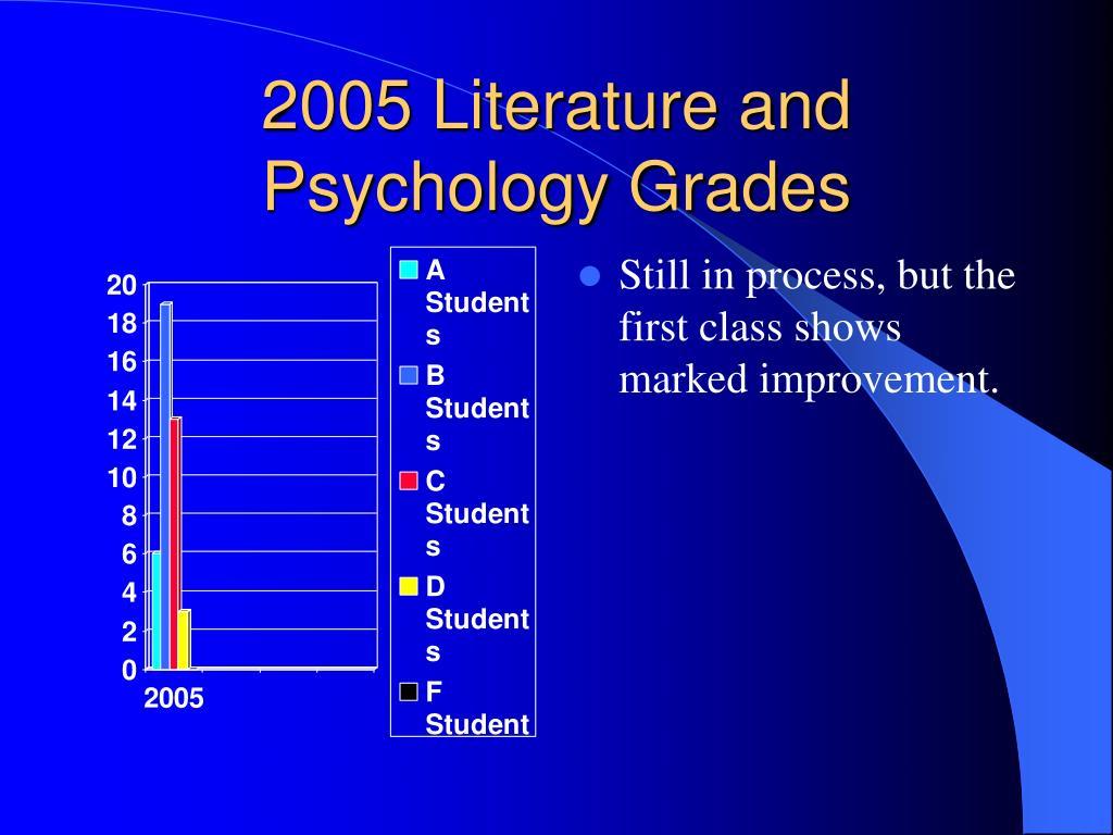 2005 Literature and Psychology Grades