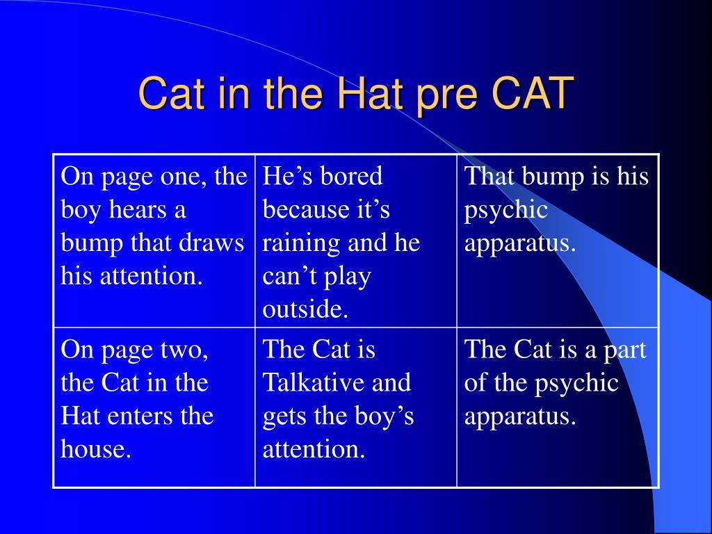 Cat in the Hat pre CAT