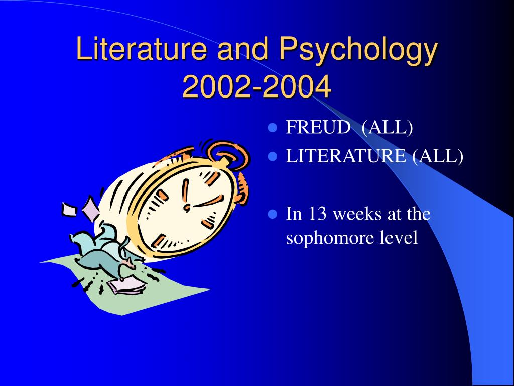 Literature and Psychology