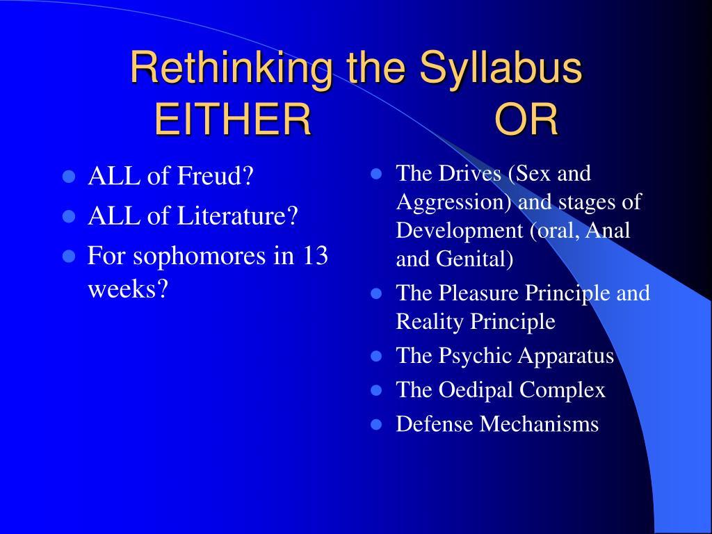 ALL of Freud?