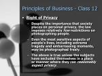 principles of business class 125