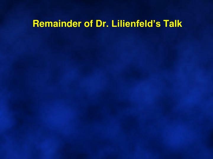 Remainder of Dr.