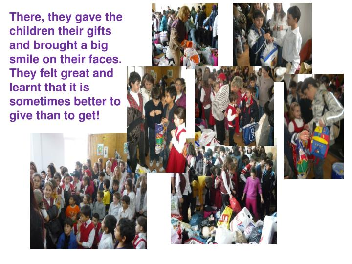 There, they gave the children their gifts and brought a big smile on their faces.