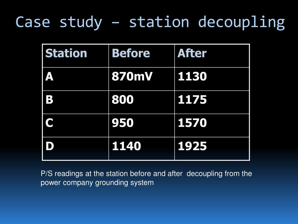 Case study – station decoupling