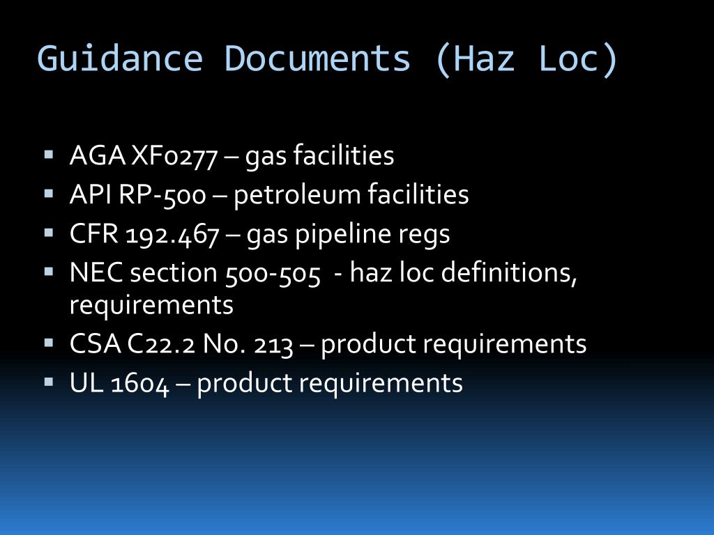 Guidance Documents (