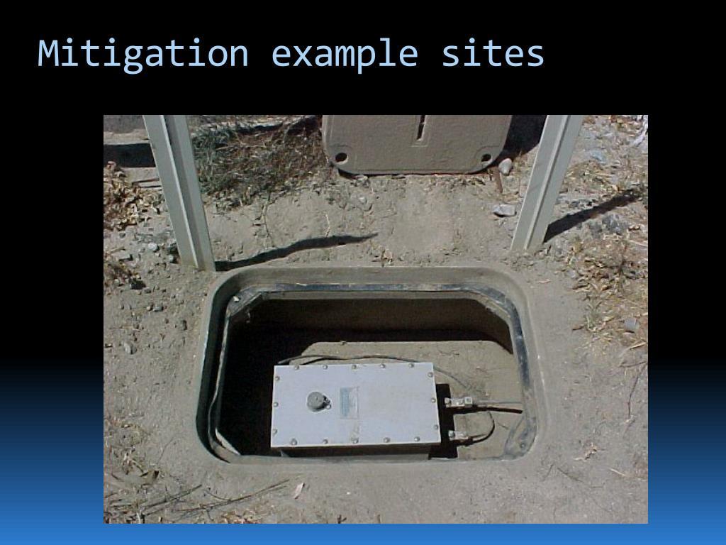 Mitigation example sites