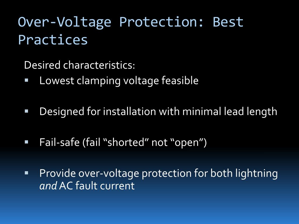 Over-Voltage Protection: Best Practices