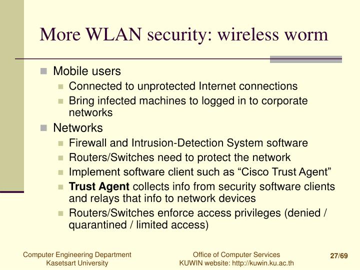 More WLAN security: wireless worm