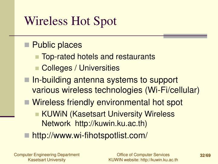 Wireless Hot Spot