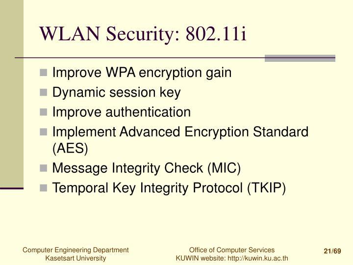 WLAN Security: 802.11i