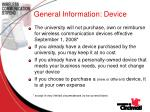 general information device