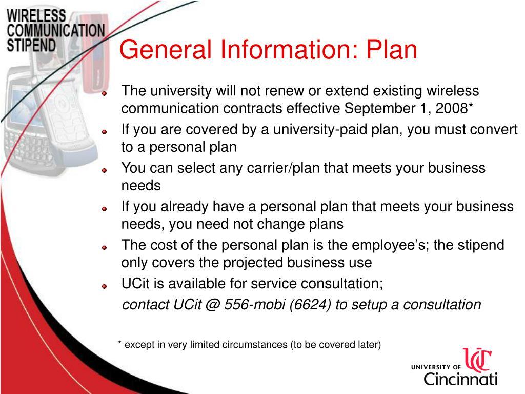 General Information: Plan