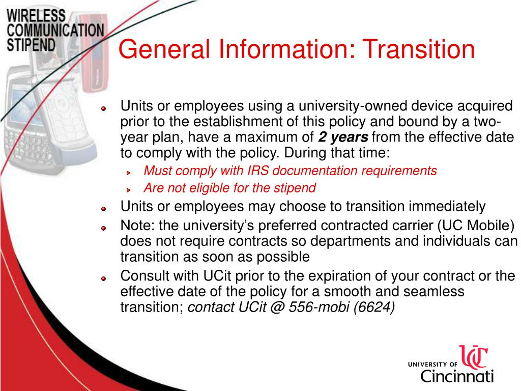 General Information: Transition