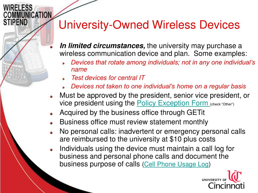 University-Owned Wireless Devices