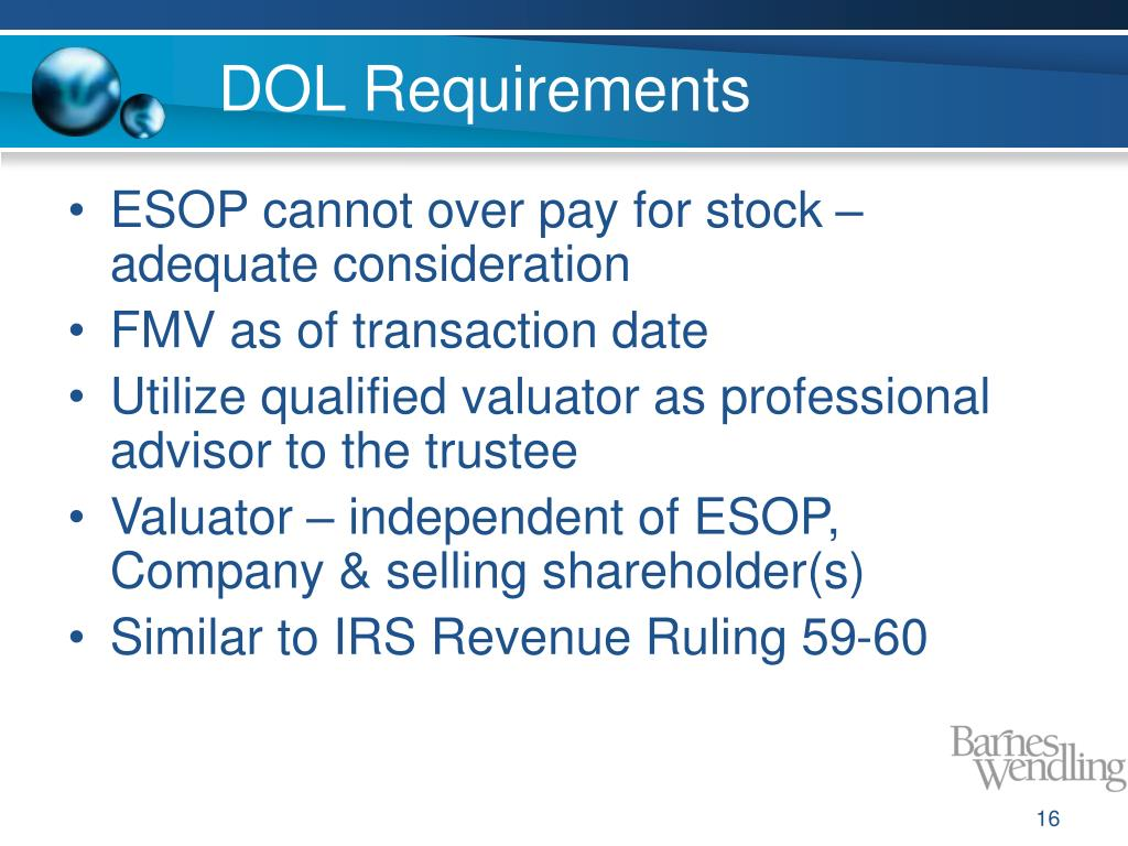 DOL Requirements
