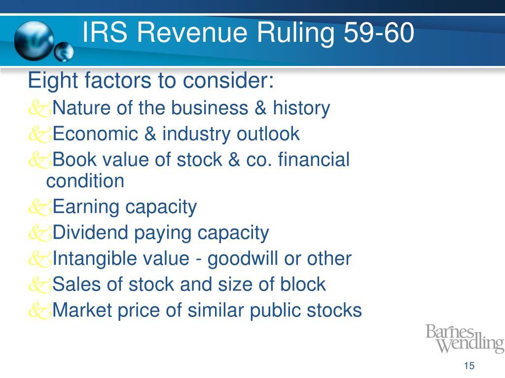 IRS Revenue Ruling 59-60