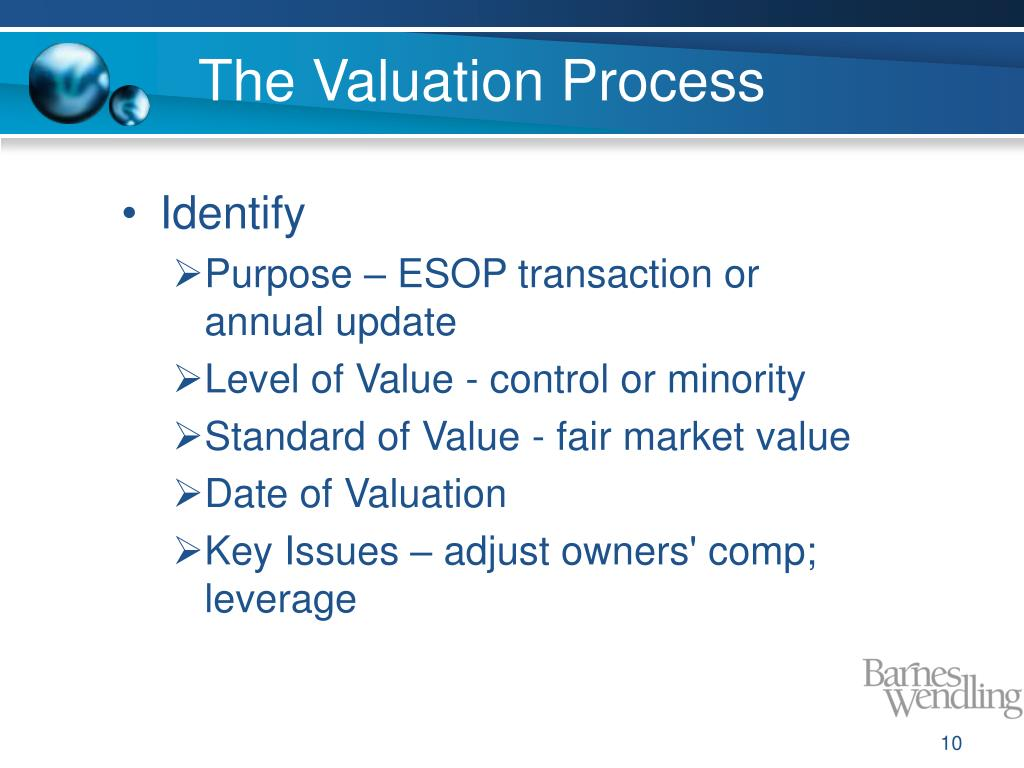 The Valuation Process