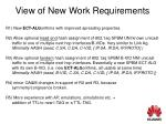 view of new work requirements