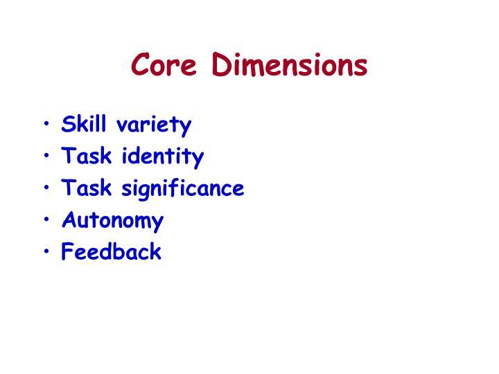 Core Dimensions